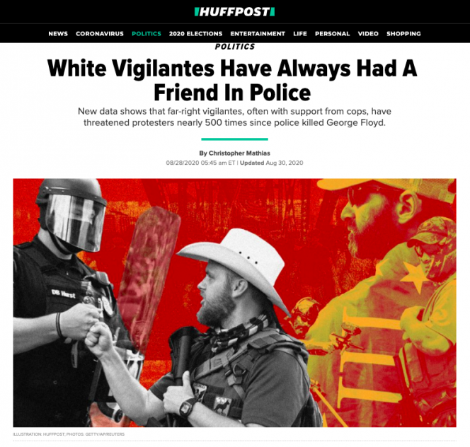 Screengrab of article on Huffpost website