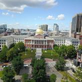 Aerial view of Boston City State House