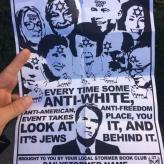 Anti-Semitic flier distributed by the Daily Stormer