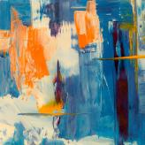Abstract painting - blue and orange
