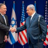 U.S. Secretary of State and Christian Zionist Mike Pompeo meets with Israeli Prime Minister Benjamin Netanyahu in Israel, on October 18, 2019. [State Department Photo by Ron Przysucha/Flickr]