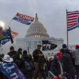 Pro-Trump mob assembled in front of the Capitol Building on January 6, 2021 (Credit: Blink O'fanaye/Flickr).