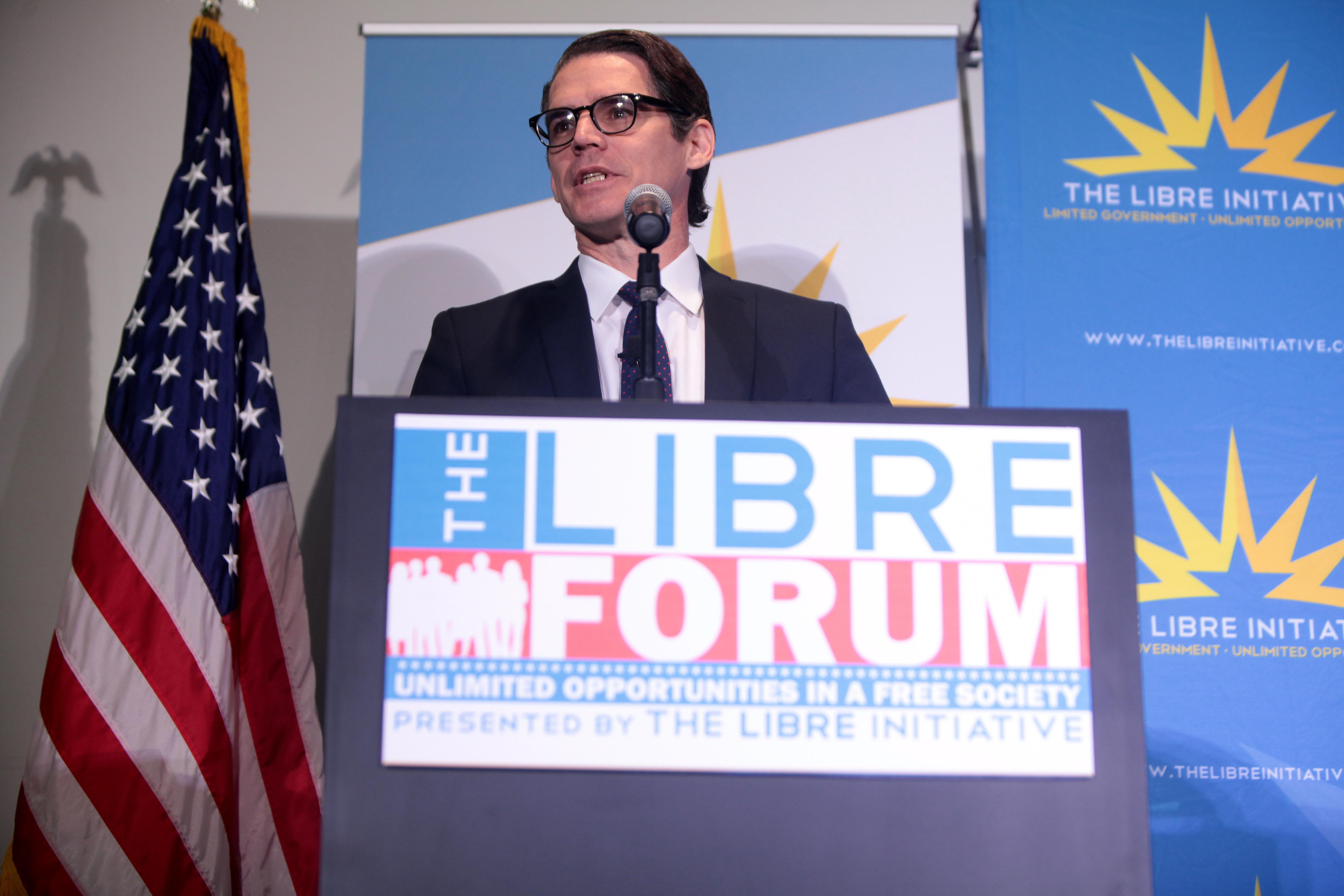 Daniel Garza speaking at a LIBRE Initiative forum in Las Vegas, Nevada, in 2015.