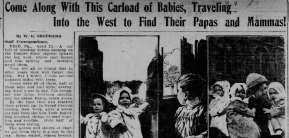 come along with this carload of babies headline of evansville newsclipping 1911